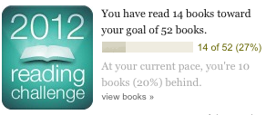 2012 Goodreads Reading Challenge - 10 books behind