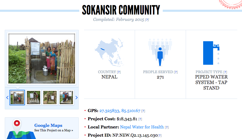 Campaign details. Sokansir Community in Nepal.