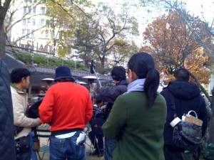 Filming a movie at Shake Shack